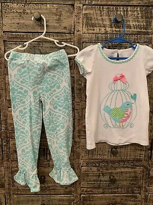 35cfeb7f5 MUD PIE BABY Girls Little Chick Pants 2 Pc Set Easter Spring Outfit ...