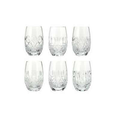 "Waterford Crystal ""6 Patterns of the Sea"" Stemless Wine Glasses Set"