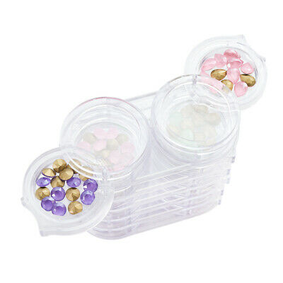 4 Empty Cupcake Plastic Box Dollhouse Miniature Food Removable lid Display