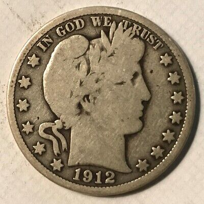 1912 Barber Half Dollar Vg Low Mintage