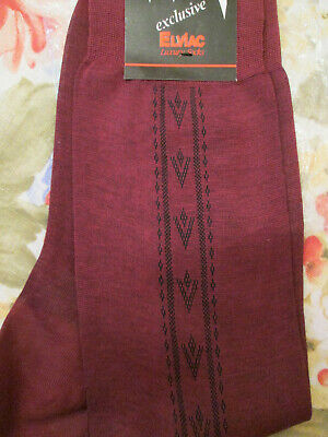 Vintage egyptian cotton luxury socks. 10 1/2. Wine colour. New with tags.