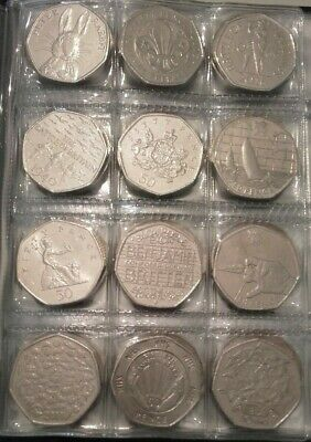 Various 50p Fifty Pence Coins - 2018 Coins, Beatrix Potter, WWF, Peter Rabbit
