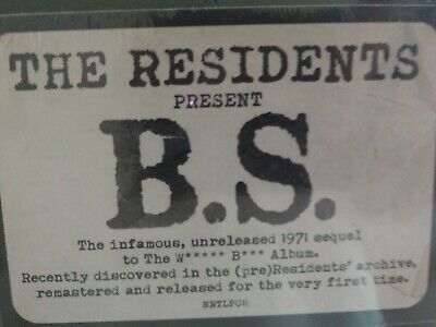 The Residents - B.s.  Limited New Vinyl Lp 2019 Rsd Unreleased Record Store Day