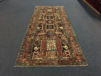 On Sale Semi Antique,Hand Knotted Persian  Traditional Rug Runner Carpet 4'x9'