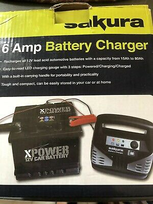 12V Portable 12 Volt 6 Amp Car Van Upto 1.8 Litre Motorhome 4X4 Battery Charger