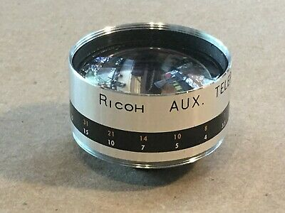 VINTAGE 35mm FILM CAMERA LENS RICOH AUX. TELEPHOTO 1:28 4.5cm 42mm SCREW MOUNT