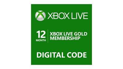 Microsoft Xbox LIVE 12 Month Gold Membership Code - Same Day Delivery -US Region