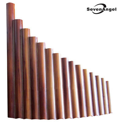 Woodwind Pan Flute Professional Beginner Student 15 Maple Bamboo Pipes Flutes✅