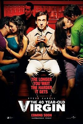 The 40 Year Old Virgin movie poster (b) 11 x 17 inches - Steve Carell poster