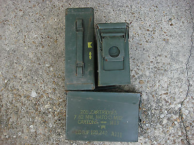 Us Military Surplus Lot of 6 M19A1 7.62MM Ammo Can Box Used .30 cal Empty