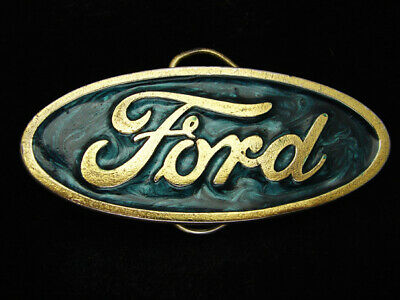 Rc05122 Vintage 1980 **Ford Motor Company** Advertisement Brasstone Belt Buckle