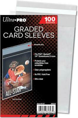 10x PACKS Ultra Pro Graded Card Sleeves Resealable 100ct NEW!