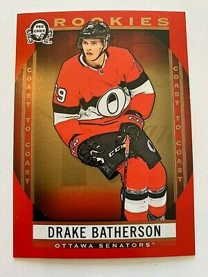 2018-19 Drake Batherson Canadian Tire RED parallel OPC rookie SP