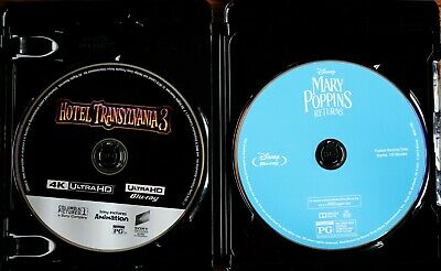 Mary Poppins Returns Blu-ray Disc & Hotel Transylvania 3 4K Disc Movie Super Lot
