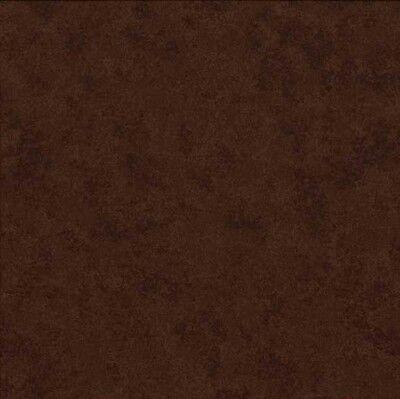 Coupon Tissu Patchwork Makower Spraytime, Faux-uni, marron chocolat 45*55cm  V47