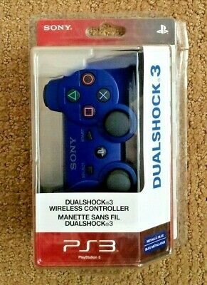 OFFICIAL OEM SONY PLAYSTATION 3 PS3 DUALSHOCK 3 Wireless Controller NEW / BLUE