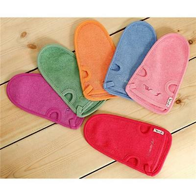 Exfoliating Body Scrub Gloves Shower Bath Mitt Loofah Skin Massage Sponge Spa DS