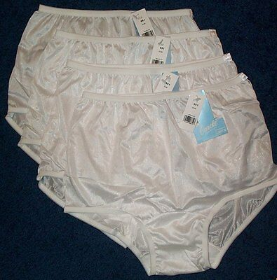 Carole Antron III 100/% Nylon Full-Cut White Brief Size 6//Medium