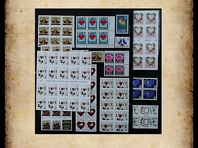 US Postage Stamps Face Value $42 + Unused Lot #139 Sheets Blocks Love Wedding