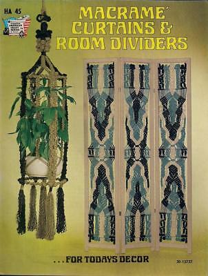 Macrame Curtains & Room Dividers Vintage Instruction Book 1975 American Craft