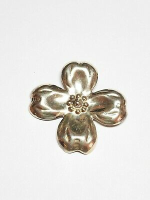 Bp1875 Vintage Exotic Tropical Flower Brooch Pin Mexico 925 Silver