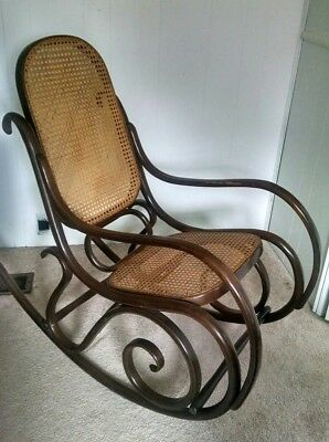 Vintage 1970s Thonet style Bentwood Rocker Excellent Condition