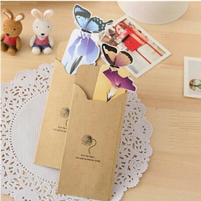 3D Color Butterfly Paper Bookmark Book Markers Exquisite Wings Open Reading DS