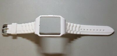 Sony SmartWatch 3 SWR50  White Housing (Adapter) & White Silicone Strap