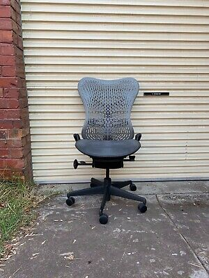 Herman Miller Light Grey Back  'Mirra' Office Chairs.