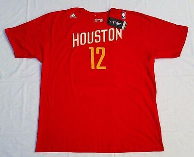 Mens 2X Red S/Sleeves Adidas THE GO-TO TEE #12 D. Howard Houston Rockets T-Shirt