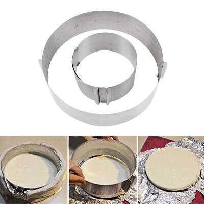Retractable Circle Mousse Ring Mould Baking Tool Set Stainless Steel Cake BE