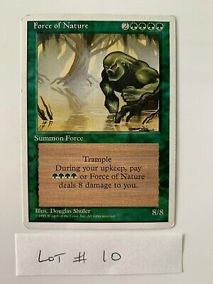 Losse kaarten Magic MTG 3rd Edition Revised Force of Nature Mint Nr Mint Rare High Grade