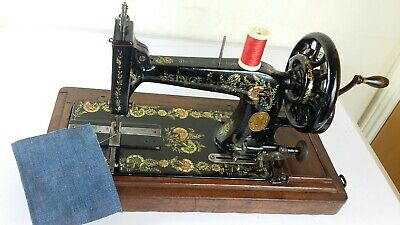 RARE ANTIQUE SINGER 48K SEWING MACHINE with OTTOMAN CARNATION, FULLY SERVICED!