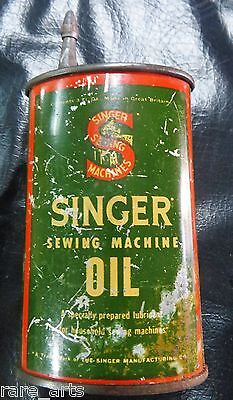 SINGER SEWING MACHINE ADV.tin Oil Can Singer #120861 Great Britain Handy oiler
