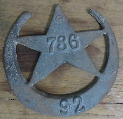 Islamic Symbol Crescent Moon & Star Vintage wall ornament Iron engrave 786 rarts