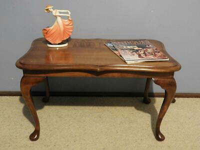 ANTIQUE VINTAGE QUEEN ANNE FRENCH PROVINCIAL MYRTLE LAMP SIDE COFFEE TABLE 1950s