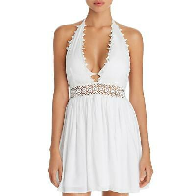7ac2f12792 PILYQ WOMENS WHITE Woven Mini A-Line Dress Swim Cover-Up Swimsuit M ...
