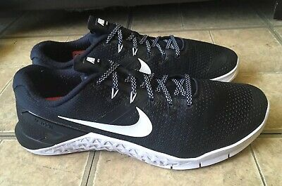 88f77ce62abc Nike Metcon 4 Black White Cross Training Shoes AH7453-003 Men Size 10.5
