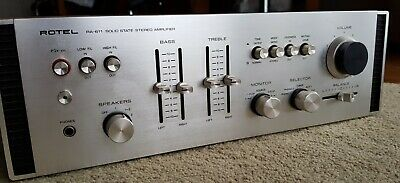 vintage Rotel RA-611 stereo hifi amplifier /preamp with phono&AUX Roland Japan