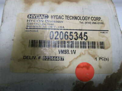 Hydac Fliter Clogging Indicator 02065345 *New In Box *