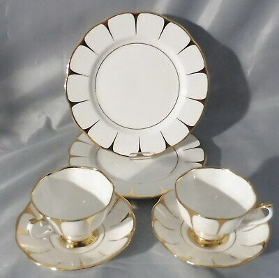 Royal Vale , Bone China , 2x Kaffeegedeck / Sammelgedeck 3tlg.