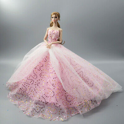Fashion Party Princess Dress Wedding Clothes/Gown For 11.5 inch Doll a09