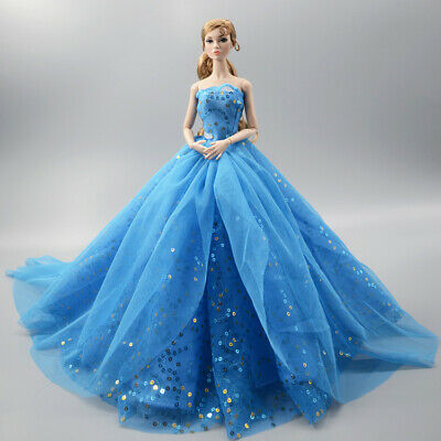 Fashion Party Princess Dress Wedding Clothes/Gown For 11.5 inch Doll a10