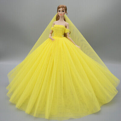 Fashion Party Princess Dress Wedding Clothes/Gown+veil For 11.5 inch Doll a12