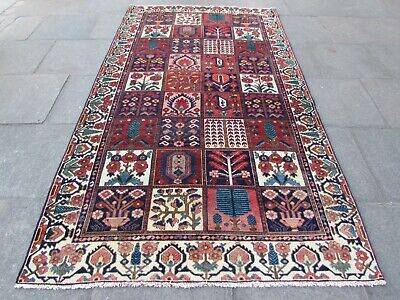 Antique Traditional Hand Made Persian Oriental Red Wool Large Carpet 300x170cm