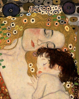 Gustav Klimt The Three Ages of Woman Detail Fine Art CANVAS Print Poster 8x10