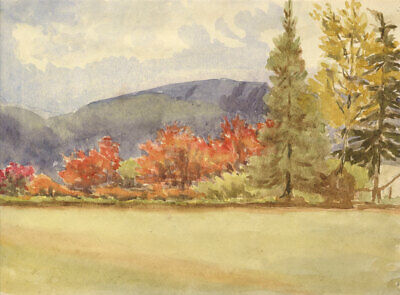 Early 20th Century Watercolour - Autumnal Scene