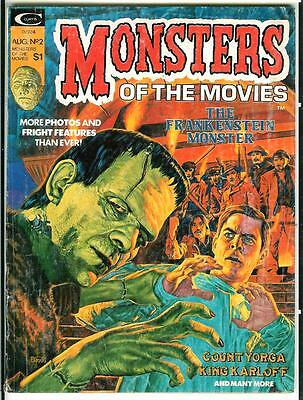 MONSTERS OF THE MOVIES #2 8/74 rare Marvel horror films & comics mag Haydock