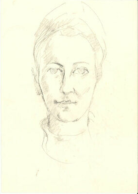 Peter Collins ARCA - c.1970s Graphite Drawing, Head Study