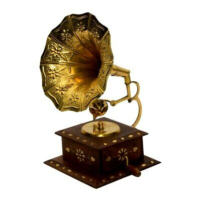 Antique Collectible Vintage Show Piece Hand Crafted Gramophone Phonograph BG 04